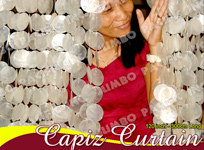Capiz curtains for door and windows decoration