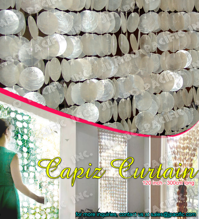Capiz shell window curtain capiz decorative curtains for Capiz window