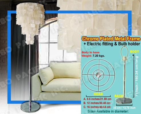 capiz floor lamps | philippine capiz shells | capiz shell products