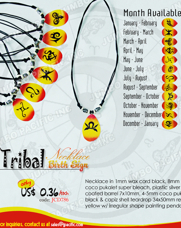 Zodiac Colored Capiz Pendant