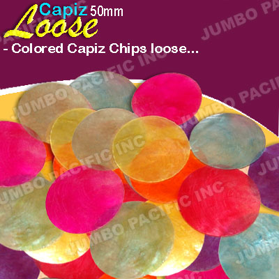 Colored Capiz Shell Loose