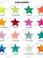 Capiz Colored Stars Shape