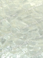 Natural White Capiz in Flakes Design