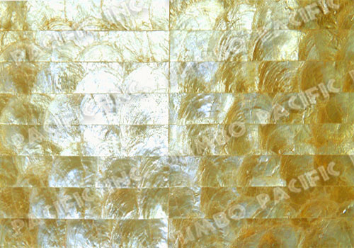 Gold 1x8 inch Halfmoon Rectangle Design