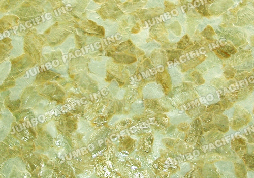White & Gold Capiz in Flakes Design