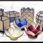 Capiz shell decoration capiz shells souvenirs products - Capiz shell tealight holder ...