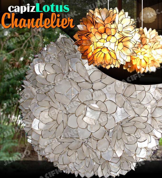 Capiz Lotus Chandelier