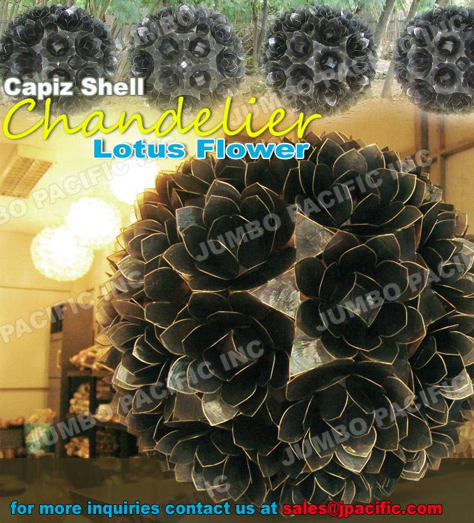 capiz lotus flower chandelier